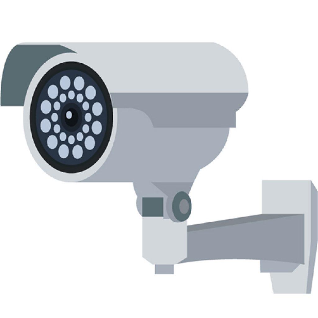 Imagem de uma câmera de segurança.
